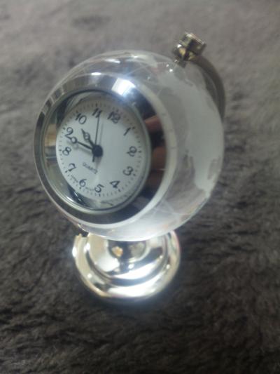 お気に入りの地球儀の時計
